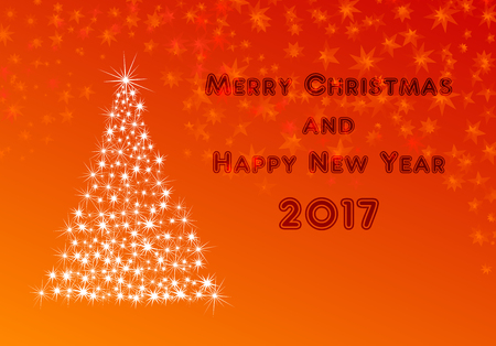 xmas card for new year 2017