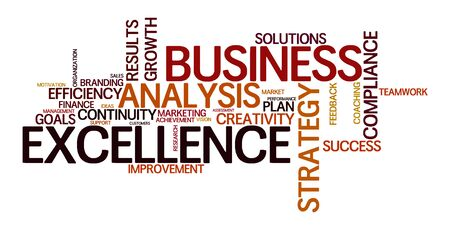 word cloud for business and excellence Stock Photo