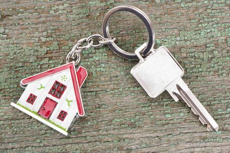 keyring: house key on keyring