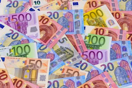 ユーロ現金通貨 写真素材