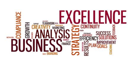 business analysis: Word cloud for business, analysis and strategy Stock Photo