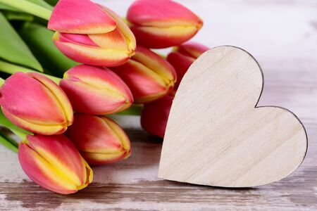 bunch of hearts: bunch of flowers as present for holiday