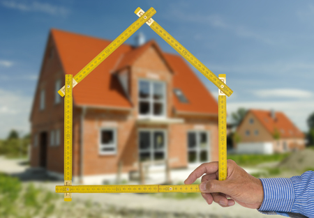 new building with real estate agent