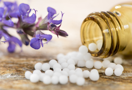 alternative medicine with herbal and homeopathic pills