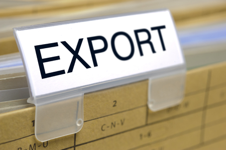 export printed on top of file folder with documents inside