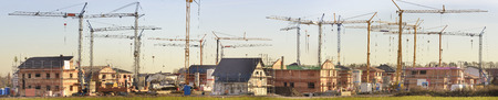 residential houses under construction Stock fotó