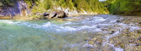 Schlucht mit Fluss Ammer in Bayern