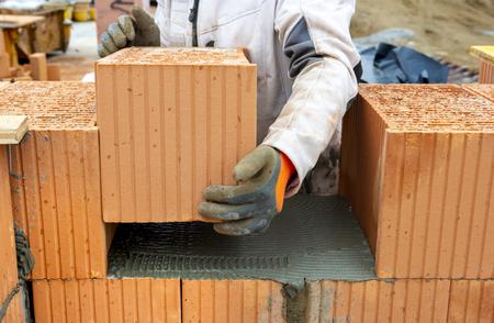 Baustelle des neuen Hauses Standard-Bild