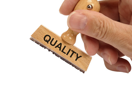Quality printed on rubber stamp