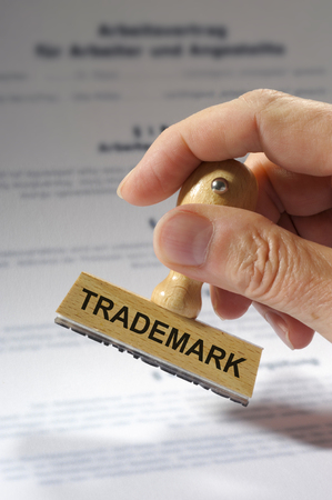 trademark printed on rubber stamp