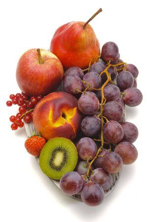 arrangement of fresh organic fruits Stockfoto
