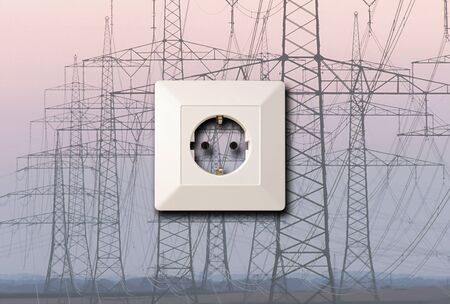 conceptual electrical pylons and socket