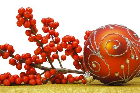 beautiful bauble as christmas decoration Stock Photo