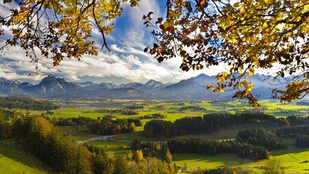 panoramic landscape in Bavaria at autumn Фото со стока