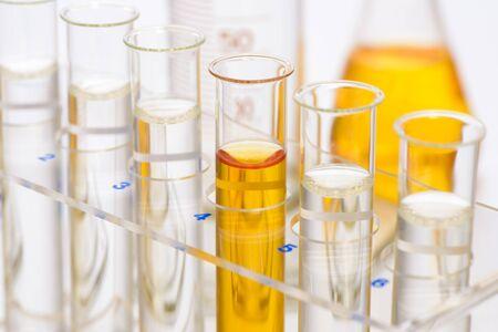 glassware in scientific  laboratory 免版税图像