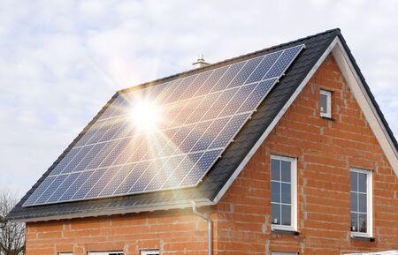 renewable energy with solar system 版權商用圖片