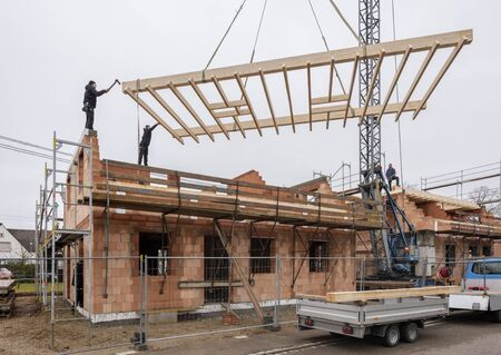 new built house in construction