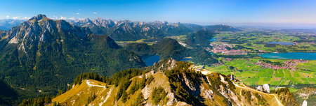 beautiful panoramic landscape in Bavaria Imagens