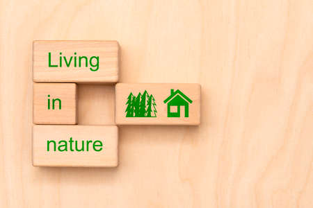 living in nature Imagens