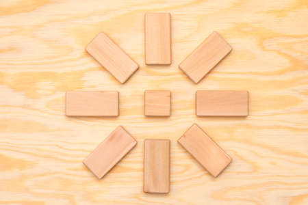 blank wooden cubes in discussion