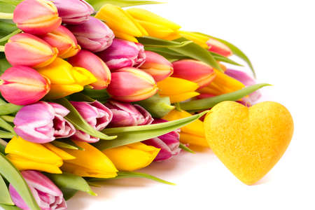 Romantic bouquet with spring flowers