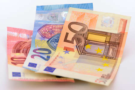 Used euro banknotes