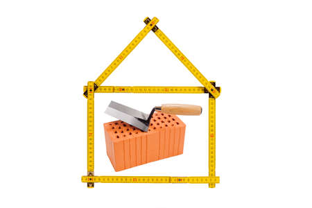 Logo for house construction and real estate