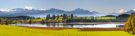 panoramic landscape in Bavaria Stock Photo