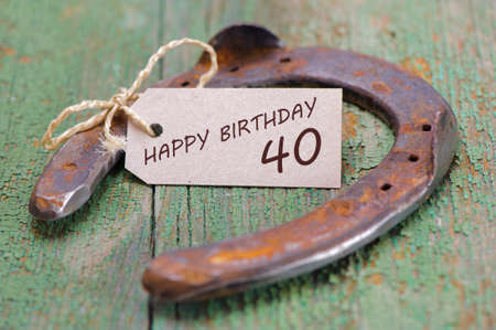 congratulations to the 40th birthday
