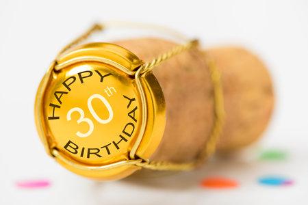 Happy congratulations to the 30th birthday Stock Photo
