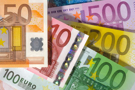 banknotes of Euro currency