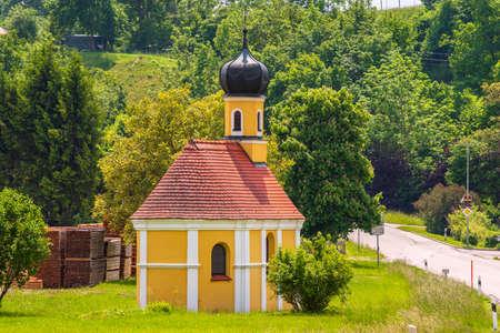 romantic chapel in Bavaria, Germany Stock Photo
