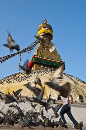The Great Bodhnath stupa in Kathmandu, Nepal