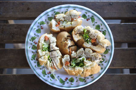 French style of Laotian typical food
