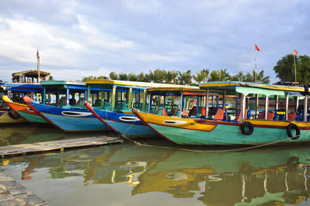 Tourist boat in Hoi An, Vietnam  Stock Photo - 16936064