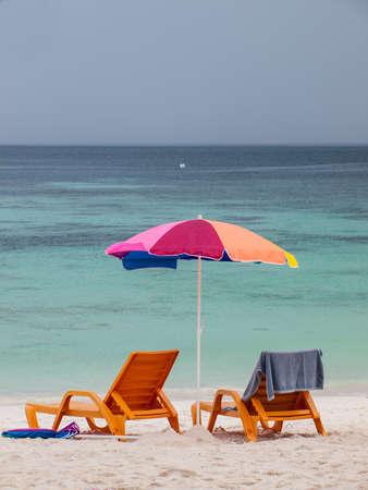 Beach furniture set in Lipe island, Thailand