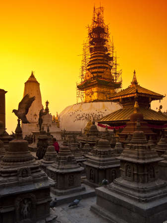 The great stupa in Katmandu, Nepal  Editorial