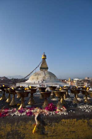 The Great stupa Bodnath in Kathmandu, Nepal  Stock Photo - 17006172