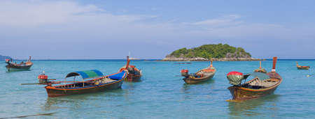 Fishing boat, Lipe island, Thailand Stock Photo