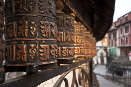 Prayer wheel, Nepal  Stock Photo - 17255763
