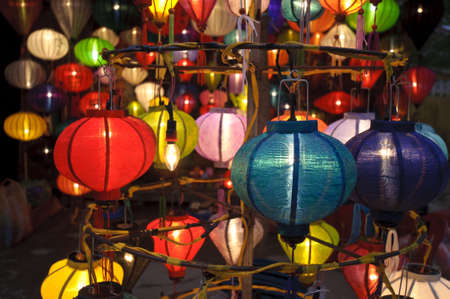 Silk lanterns in Hoi An city, Vietnam Stock Photo - 17236156
