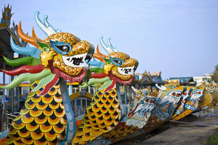Dragon boat in Hue, Vietnam Stock Photo - 17236154