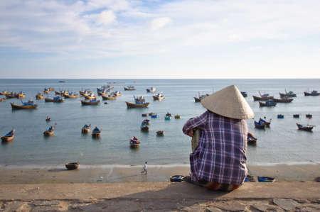 conical hat: Mui Ne beach