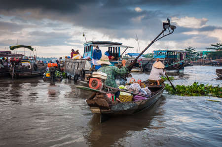 Cai Rang floating market Can Tho Vietnam photo