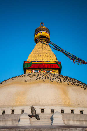 bodnath: The Great stupa Bodnath in Kathmandu Nepal