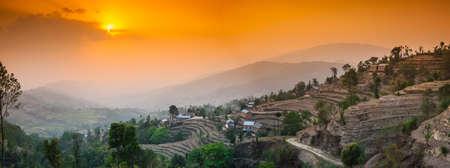 ナガルコット、カトマンズ、ネパール 写真素材