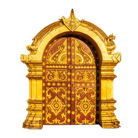 art door: Ancient golden door, Laos