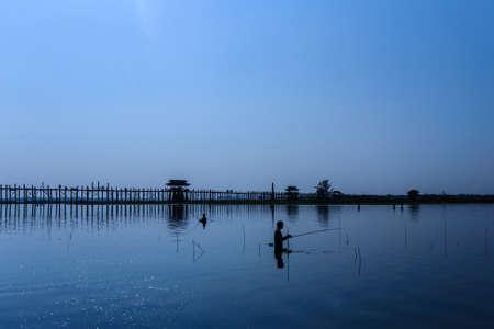 longest: U Beins Bridge, the worlds longest teak footbridge in Mandalay, Myanmar