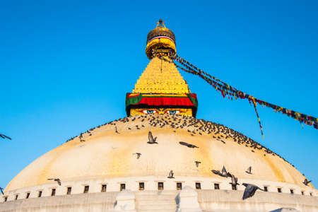 bodnath: The Great stupa Bodnath in Kathmandu, Nepal Stock Photo