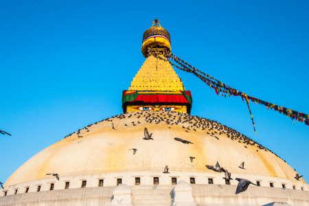 The Great stupa Bodnath in Kathmandu, Nepal Stock Photo
